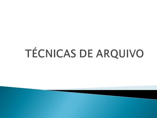 Curso Online de TÉCNICAS DE ARQUIVO