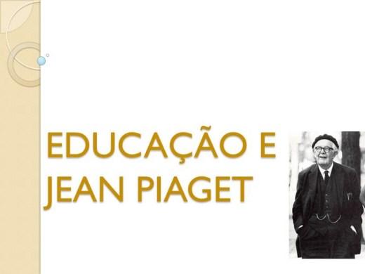 Curso Online de EDUCAÇÃO E JEAN PIAGET