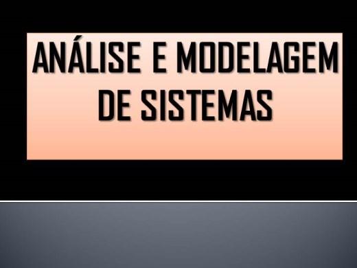 Curso Online de  INTRODUÇÃO A ANÁLISE E MODELAGEM DE SISTEMAS