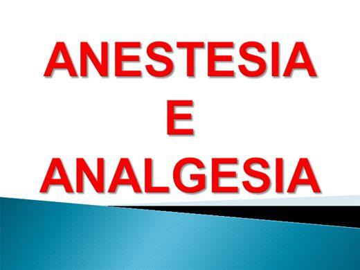 Curso Online de Anestesia e Analgesia
