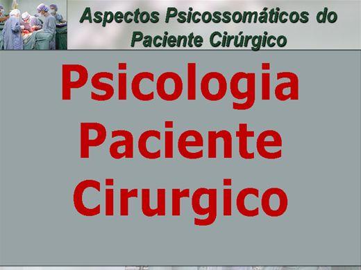 Curso Online de Psicologia Paciente Cirurgico