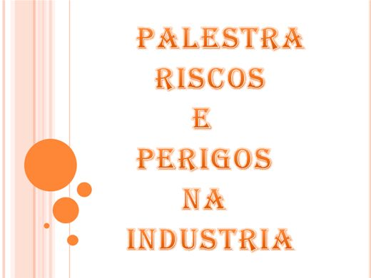 Curso Online de Riscos e Perigos na Industria