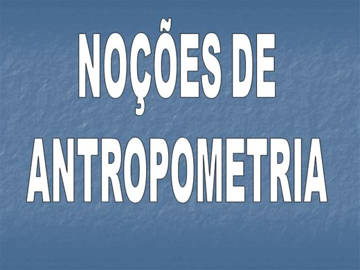 Curso Online de NOÇÕES DE ANTROPOMETRIA