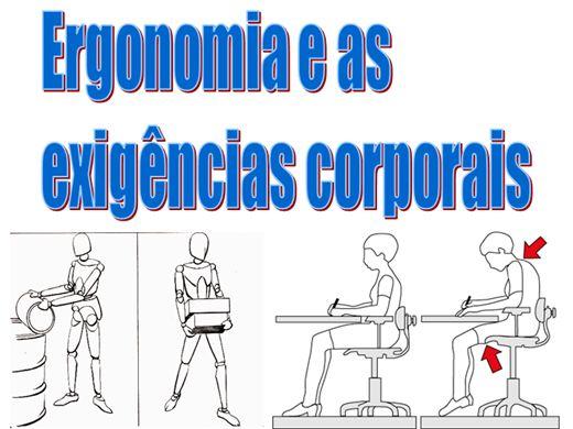 Curso Online de Ergonomia e as exigências corporais