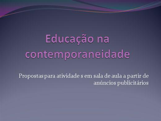 Curso Online de Educação na Contemporaneidade: Propostas para atividades em sala de aula a partir de anúncios publicitários