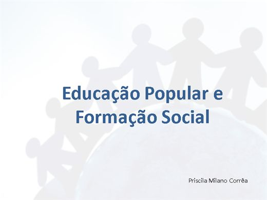 Curso Online de Educação Popular e Formação Social