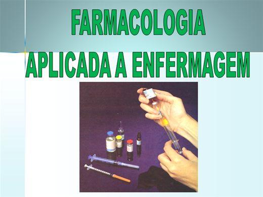 Curso Online de FARMACOLOGIA APLICADA A ENFERMAGEM