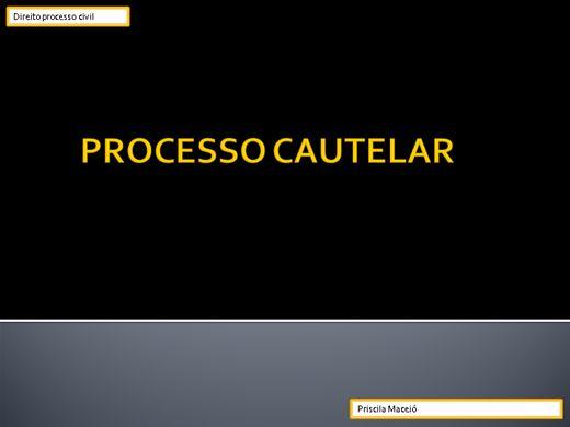Curso Online de O processo cautelar
