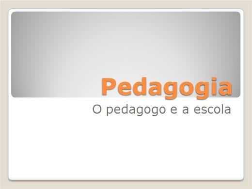 Curso Online de Pedagogia - O pedagogo e a escola