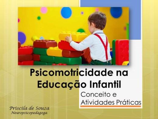 Curso Online de Psicomotricidade na Educação Infantil: conceito e atividades práticas