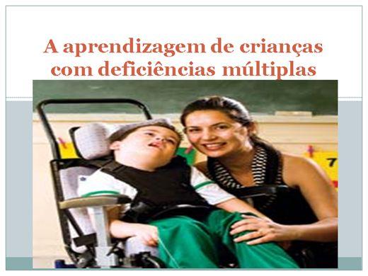 Curso Online de A aprendizagem de crianças com deficiências múltiplas
