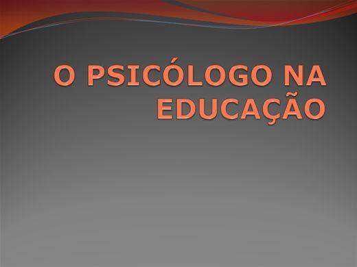 Curso Online de O PSICÓLOGO NA EDUCAÇÃO
