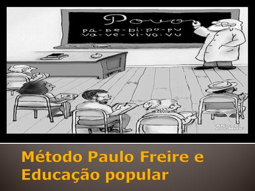 Curso Online de Método Paulo Freire e  Educação popular