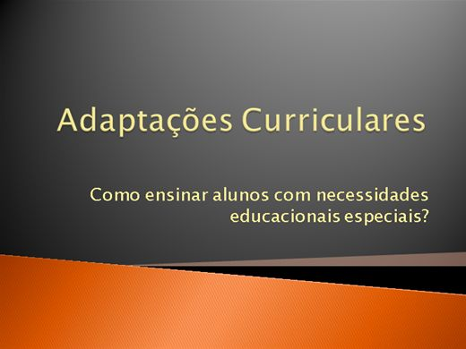 Curso Online de Adaptações Curriculares