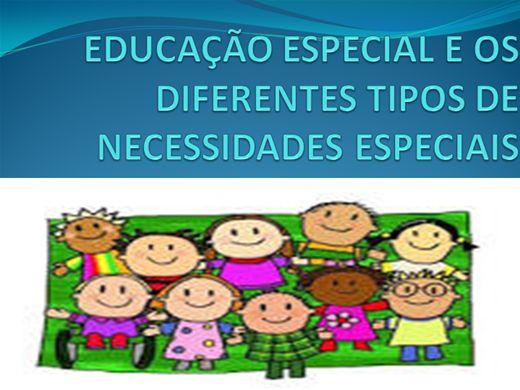 Curso Online de EDUCAÇÃO ESPECIAL E OS DIFERENTES TIPOS DE NECESSIDADES ESPECIAIS