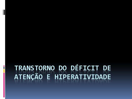 Curso Online de Transtorno do déficit de Atenção e Hiperatividade