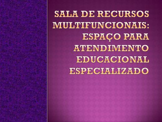 Curso Online de Sala de Recursos Multifuncionais:Atendimento educacional