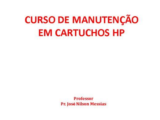 Curso Online de Manutenção em Cartuchos a Jato de Tinta