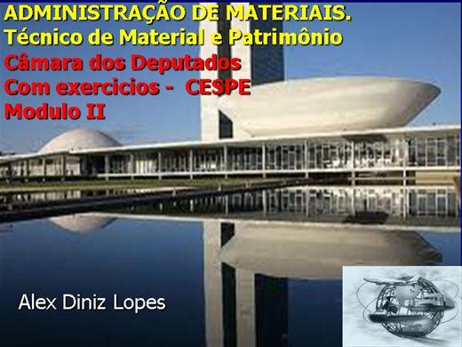 Curso Online de Administração de Materiais para a Câmara dos Deputados - cargo de Técnico de Material e Patrimônio -modulo II
