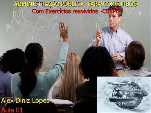 Curso Online de Organização do Estado- Administração Pública para CONCURSOS- Módulo I - com exercícios resolvidos