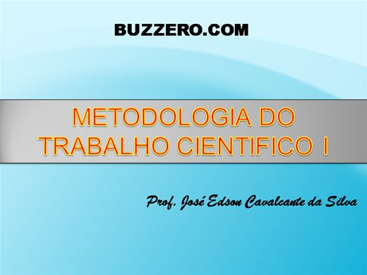 Curso Online de Metodologia do Trabalho Científico I