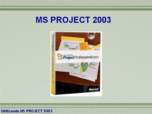 Curso Online de UTILIZANDO MS PROJECT 2003