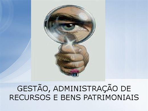 Curso Online de Gestão, adminstração de patrimômio público