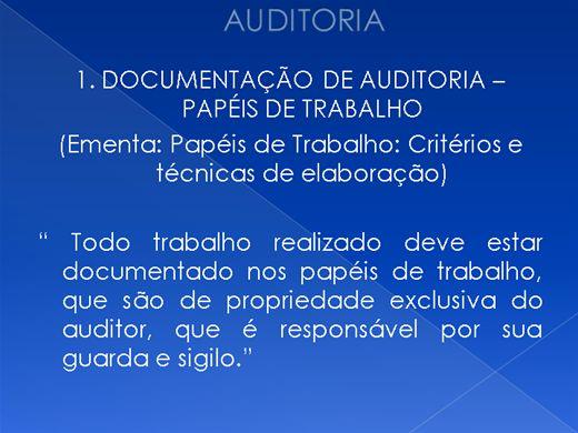 Curso Online de Auditoria
