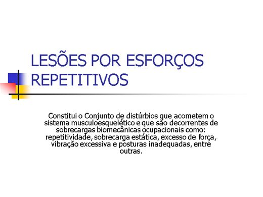 Curso Online de LESÕES POR ESFORÇOS REPETITIVOS