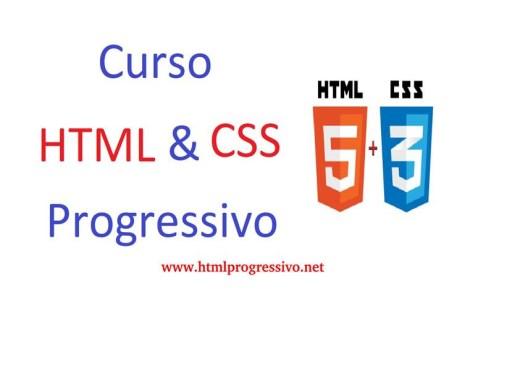 Curso Online de HTML & CSS Progressivo