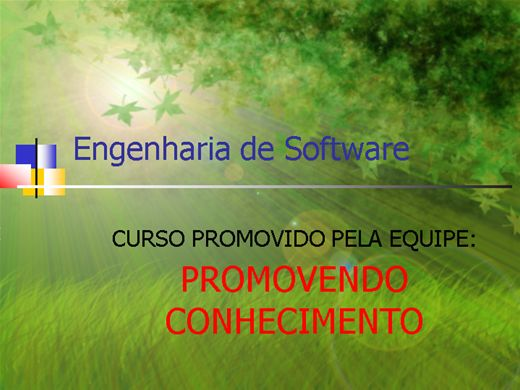 Curso Online de Engenharia de Software