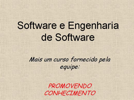 Curso Online de Software e Engenharia de Software