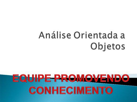 Curso Online de ANÁLISE ORIENTADA A OBJETOS