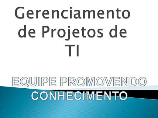 Curso Online de GERENCIAMENTO DE PROJETOS DE TI