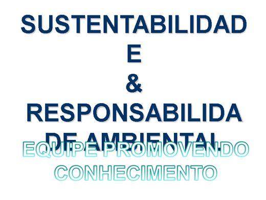 Curso Online de SUSTENTABILIDADE  & RESPONSABILIDADE AMBIENTAL