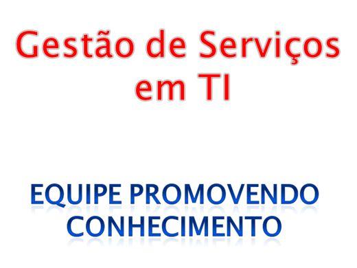 Curso Online de GESTÃO DE SERVIÇOS EM TI