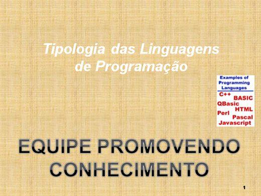 Curso Online de Tipologia das Linguagens de Programação