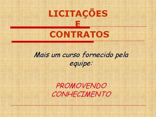Curso Online de Licitações e Contratos