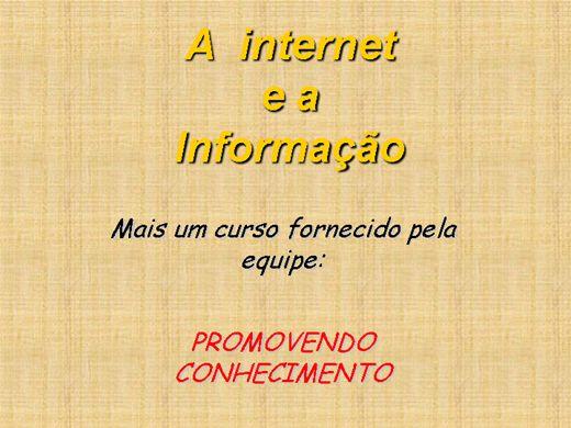 Curso Online de A Internet e a Informação