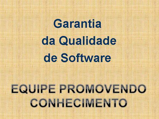 Curso Online de Garantia da Qualidade de Software