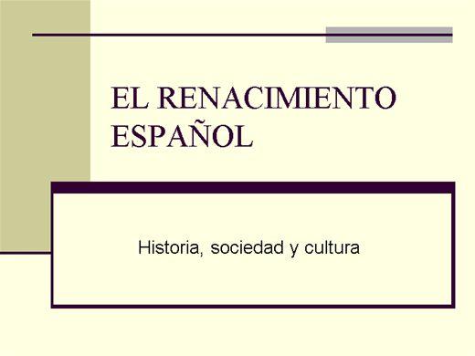 Curso Online de EL RENACIMIENTO ESPAÑOL
