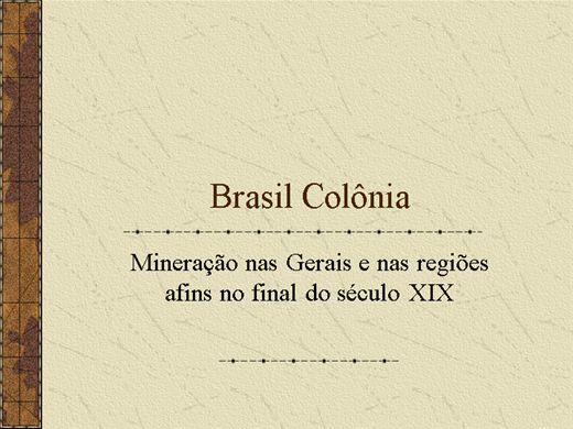 Curso Online de Brasil Colônia-Mineração