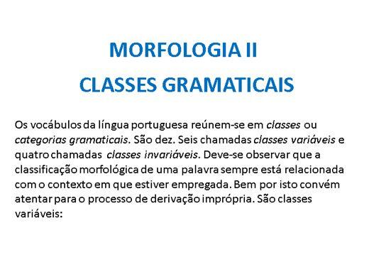 Curso Online de Classe de palavras