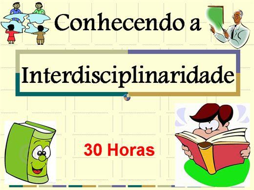 Curso Online de Conhecendo a Interdisciplinaridade