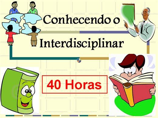 Curso Online de Conhecendo o Interdisciplinar