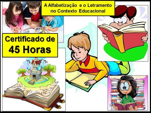 Curso Online de A Alfabetização e o  Letramento no Contexto Educacional