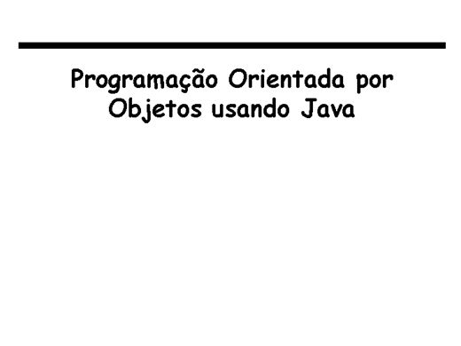 Curso Online de Programando orientado a objetos - Java