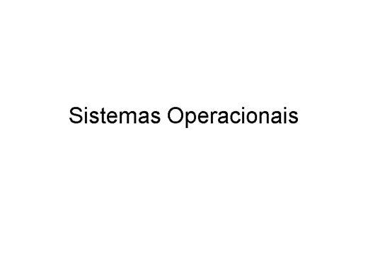 Curso Online de Sistemas Operacionais - Fundamentos