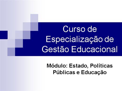 Curso Online de curso de especialização de  gestão educacional