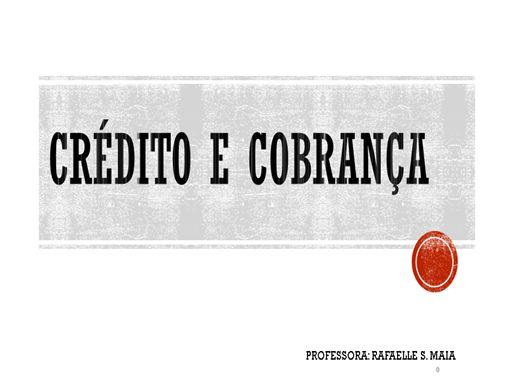 Curso Online de CRÉDITO E COBRANÇA